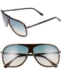 725a9b478b Lyst - Tom Ford Oval Eyeglasses Tf5455 001 Shiny Black 50mm 5455 in ...