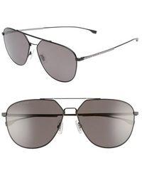 BOSS - 63mm Polarized Aviator Sunglasses - - Lyst