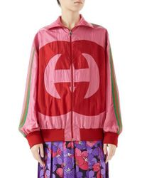 Gucci - Interlocking-g Technical Nylon Jacket - Lyst