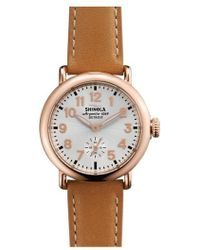 Shinola - 'the Runwell' Leather Strap Watch - Lyst