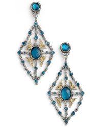 Konstantino - 'thalassa' Blue Topaz Kite Chandelier Earrings - Lyst