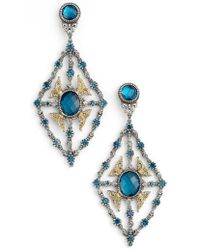 Konstantino - 'thalassa' Blue Topaz Kite Chandelier Earrings - Lyst