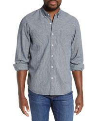 Billy Reid Yoked Standard Fit Cotton & Linen Sport Shirt