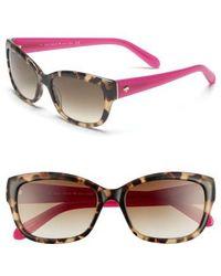 Kate Spade   Kate Spade 'johanna' 53mm Retro Sunglasses - Camel Tortoise   Lyst