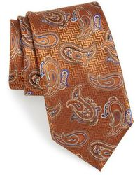 Canali - Paisley Silk Tie - Lyst