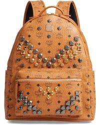 MCM - Medium Stark - Visetos Studded Logo Backpack - - Lyst