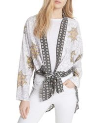 Free People | Forget Me Knot Tie Front Kimono | Lyst