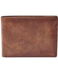 Fossil - 'derrick' Leather Front Pocket Bifold Wallet - Lyst