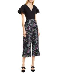 ac4044df77 Lyst - Ted Baker Fortune Culotte Jumpsuit in Black