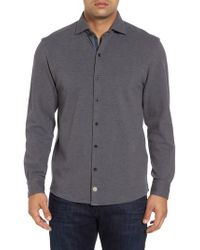 Thaddeus - Shandy Heathered Knit Sport Shirt - Lyst