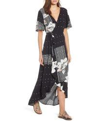 O'neill Sportswear - Alamante Print Wrap Dress - Lyst