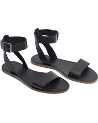 68a0662519391a Lyst - Madewell The Boardwalk Multistrap Sandal in Black