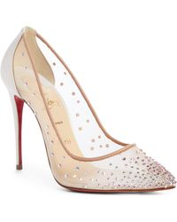 Christian Louboutin - Follies Strass Pointy Toe Pump - Lyst
