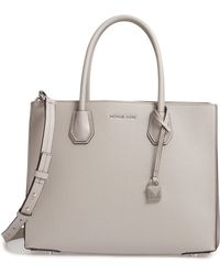 MICHAEL Michael Kors - Large Mercer Leather Tote - - Lyst