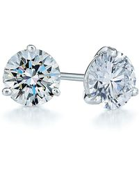 Kwiat - 1ct Tw Diamond & Platinum Stud Earrings - Lyst