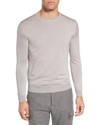 Eleventy - Merino Wool & Silk Tipped Sweater - Lyst