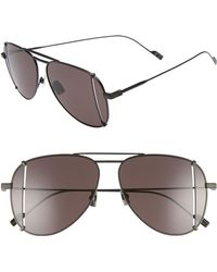 Saint Laurent - 59mm T-cut Aviator Sunglasses - Lyst