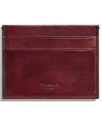 Shinola - Harness Leather Card Case - - Lyst