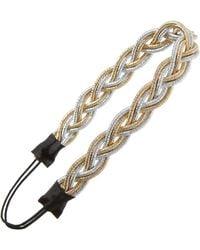 Tasha - Metallic Woven Braid Headband - Lyst
