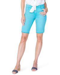 NYDJ - Briella Frayed Hem Bermuda Shorts - Lyst