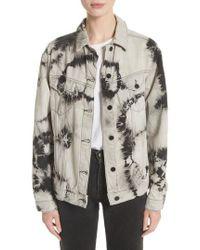 Ashley Williams - Western Tie Dye Denim Jacket - Lyst