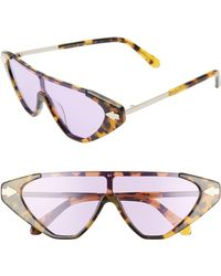 1b96b0fae6d Karen Walker - Hallelujah 125mm Shield Sunglasses - Crazy Tortoise  Violet  Tint - Lyst