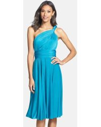 Dessy Collection   Convertible Wrap Tie Surplice Jersey Dress   Lyst