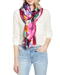 Kate Spade - Painter Flora Oblong Scarf - Lyst