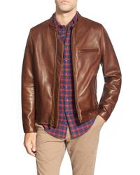 819252ad3e Men's Schott Nyc Leather jackets On Sale - Lyst