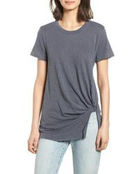 Stateside - Twist Hem Slub Supima Cotton Tee - Lyst