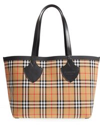 Burberry - Giant Vintage Reversible Tote - - Lyst