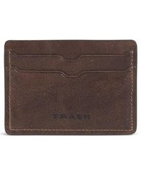 Trask | 'jackson' Bison Leather Card Case | Lyst