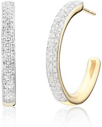 Monica Vinader - Fiji Large Diamond Hoop Earrings - Lyst