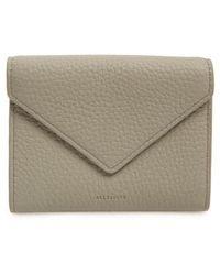 AllSaints - Voltaire Envelope Leather Card Case - Lyst