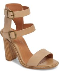 748275dbc9ab Lyst - Vince Camuto Olivian Caged Heeled Tall Gladiator Sandals ...
