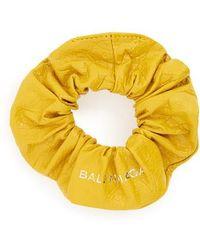 Balenciaga - Chouchou Leather Bracelet - Lyst