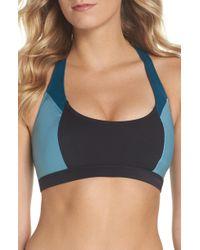 Zella - High Dive Asymmetrical Back Bikini Top - Lyst