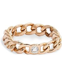 Zoe Chicco - Diamond Medium Curb Chain Ring - Lyst
