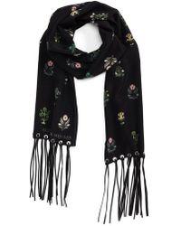 Alexander McQueen - Medieval Flower Skinny Silk Scarf - Lyst