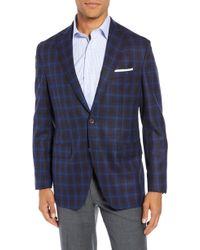 David Donahue - Ashton Classic Fit Plaid Wool Sport Coat - Lyst