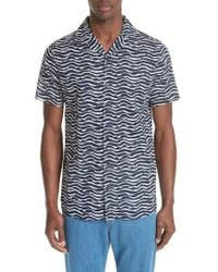 Onia - Painted Waves Camp Shirt - Lyst
