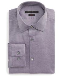 John Varvatos   Slim Fit Stretch Geometric Dress Shirt   Lyst