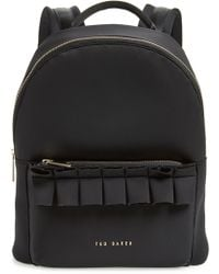 65f30c0e42 Lyst - Ted Baker Luggage Lock Leather Backpack in Gray