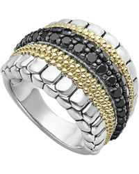 Lagos - Diamond Lux Black Diamond Band Ring - Lyst