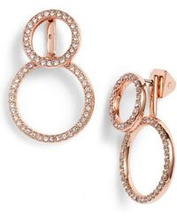 Vince Camuto - Pave Front & Back Circle Earrings - Lyst