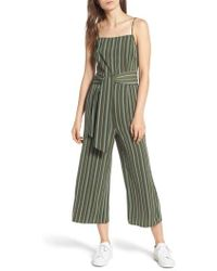 The Fifth Label - Axial Stripe Crop Jumpsuit - Lyst