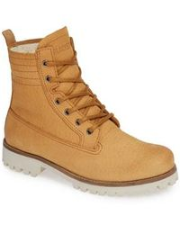 Blackstone - Ol22 Lace-up Boot With Genuine Shearling Lining - Lyst