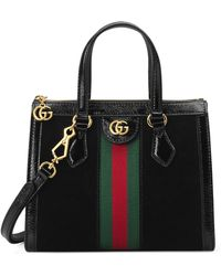 Gucci Ophidia Small Suede Tote Bag - Black
