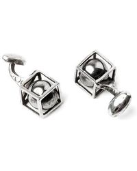 Title Of Work - Sphere In Cube Cuff Links - Lyst