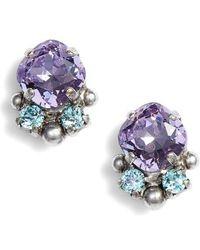 Sorrelli - Cushion Cut Crystal Earrings - Lyst